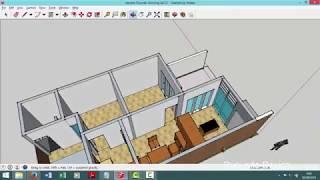Desain Rumah Modern Minimalis kavling 6x12 meter Taman Luas