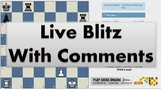 Blitz Chess #2345 with Live Comments Queen Pawn vs IM Alvar Alonso with Black