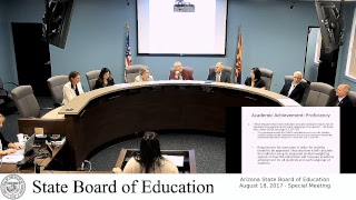 AZSBE Aug 18, 2017 Special Meeting