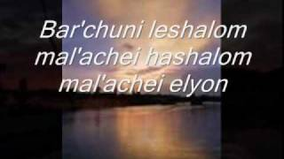 SHALOM ALEICHEM with Lyrics Sung by Susana Allen