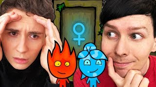 NO MORE LADYDOOR - Dan and Phil play: Fireboy and Watergirl #2!