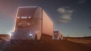 Tesla unveils electric semitractor-trailer Thursday near its design center in Hawthorne, California