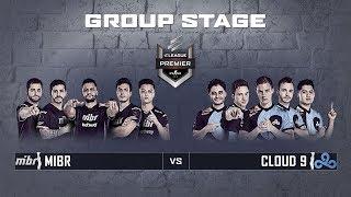 ELEAGUE CS:GO Premier 2018 - MiBR vs. Cloud9 - Group Stage