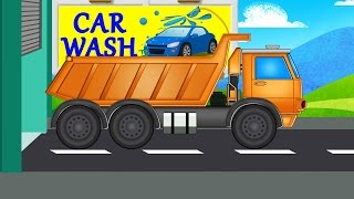 Dump truck | car wash | videos for baby & toddlers