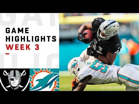 Xxx Mp4 Raiders Vs Dolphins Week 3 Highlights NFL 2018 3gp Sex