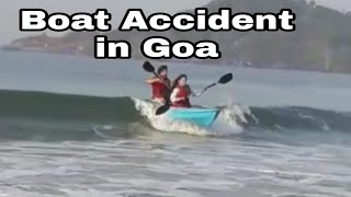 Funny boat accident of couple at Pelolem beach Goa sirra couple
