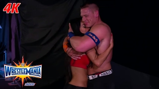 John Cena & Nikki Bella share a moment after getting engaged: WrestleMania 4K Exclusive, Apr 2, 2017