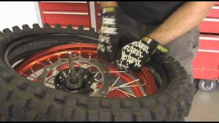 motocross tire change jay clark and dunlop tires