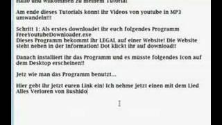 Youtube MP3 download Anleitung (deutsch)