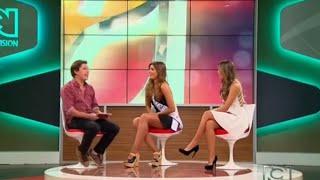 Entrevista Miss Colombia 2015 Ariadna Gutierrez en Nuestra Semana Nuestra Tele