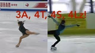 23 ladies of figure skating performing 3A and 4