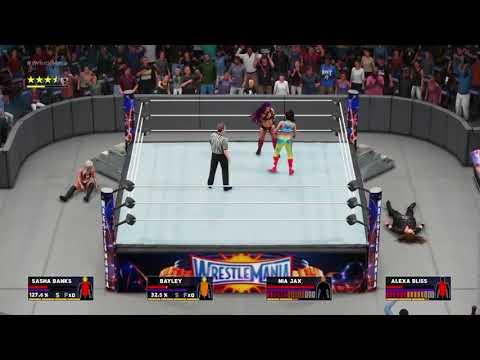 Xxx Mp4 WWE 2K18 Dream Match Divas Championship Alexa Bliss Vs Nia Jax Vs Bayley Vs Sasha Banks 3gp Sex