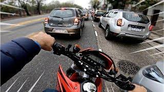 COMO LOCOS EN EL TRANSITO! Rouser NS 200 y Honda Tornado 250 #1 Motovlog