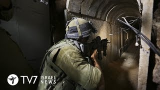 IDF destroys another offensive tunnel that penetrated Israel from Gaza - TV7 Israel News 12.10.18