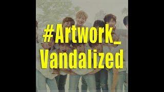 Art piece worth over 700 million won $658,000 vandalized by K pop fans