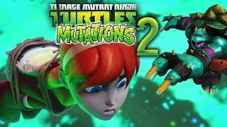 TMNT MUTATIONS and ANIMATIONS Part 2: April Mutation, Spike (Slash) Mutation