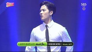 """잭슨(Jackson) """"하지하지마(Stop stop it) Intro"""" (with GOT7) MC Special Stage @ SBS Inkigayo 2015.05.17"""