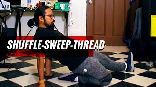 shuffle to sweep to thread | breakdance moves for beginners