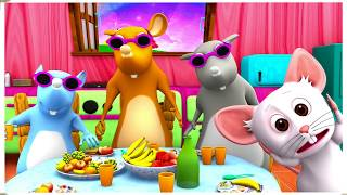 Three Blind Mice | Kindergarten Nursery Rhymes and Songs for Kids | Little Treehouse S03E122