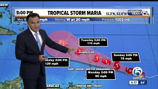 3 named storms in the Atlantic, including newly formed Tropical Storm Maria