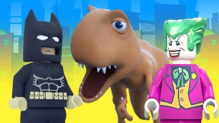 BATMAN vs DINO and JOKER LEGO SUPERHERO MOVIES