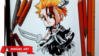 Speed Drawing Chibi Ichigo - Tensa Zangetsu || Bleach