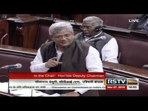 Sh. Sitaram Yechury's comments on the discussion on commitment to India's constitution
