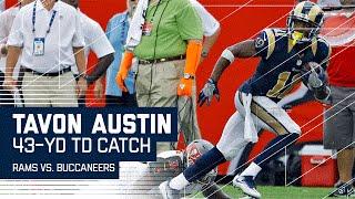 Tavon Austin Breaks Big Tackle for 43-Yard TD! | Rams vs. Buccaneers | NFL