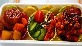 Braised octopus lunchbox (Muneo-jorim dosirak: 문어조림 도시락)