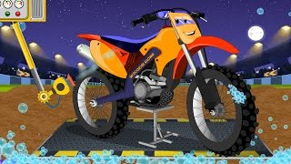 Motocross Bike | Childrens Cartoon | Car Video  For Kids