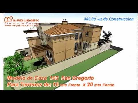 Planos de casas Modelo San Gregorio 103 Arquimex Planos de casas