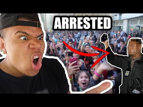 KICKED OUT OF VIDCON LIVE FOOTAGE!! **POLICE CALLED**