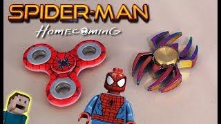 Spiderman Homecoming Fidget Spinners Movie Avengers Amazing Toy Hand Logo Web slinger
