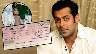 Salman Khan's Being Human Foundation HELPS A Kid With Serious Disease