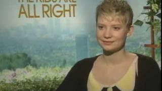"Mia Wasikowska Talks ""The Kids Are All Right"""