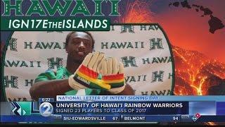 Rolovich, Rainbow Warriors ink class of 2017