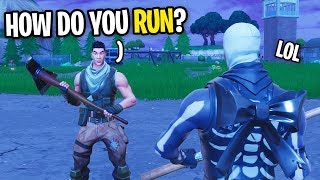 I FOUND THE BIGGEST NOOB AND CARRIED HIM ON FORTNITE... (HE COULD