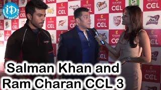 Excited to Perform - Salman Khan and Ram Charan @CCL Season 3 Curtain Raiser