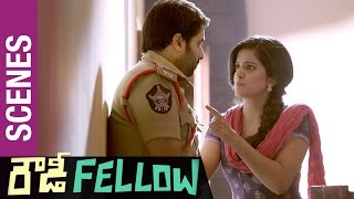 Rowdy Fellow Telugu Movie Scenes | Vishakha Singh romantic warning to Nara Rohit | Rao Ramesh