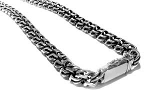 Bismarck necklace, Sterling Silver 82 grams 53 cm. Made for custom order. Box clasp.