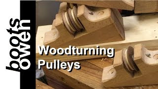 How to make wooden pulleys