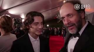 Timothée Chalamet speaks French!! Armie Hammer Call me by your name Premiere by Cine+ and Canal+
