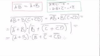 Boolean algebra #25: DeMorgan's theorem - examples (continued)