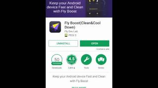 Fly Boost for Android - Enhance Your Phone and Remove Junk Files, Save Memory