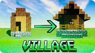 Minecraft - How to Make Default Villages Look Better Tutorial (Works on MCPE Too)