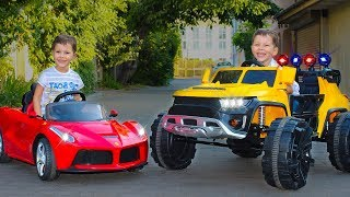 Power Wheels ride on cars for kids Family Fun Play Time Cars video for kids