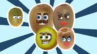 Kiwi Finger Family Song Nursery Rhymes for Kids | Learning Fruits