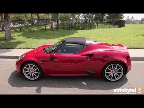 2016 Alfa Romeo 4C Spider Test Drive Video Review