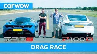 Tesla Model S P100D vs Mclaren 720S DRAG RACE, ROLLING RACE & BRAKE TEST   Mat vs Shmee pt 4/4