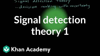Signal detection theory - part 1 | Processing the Environment | MCAT | Khan Academy